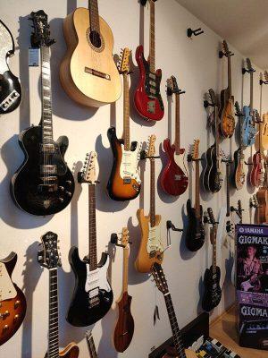 Musikgeschäft E-Gitarren