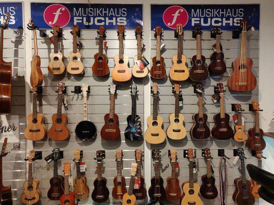 Musikgeschäft Gitarren