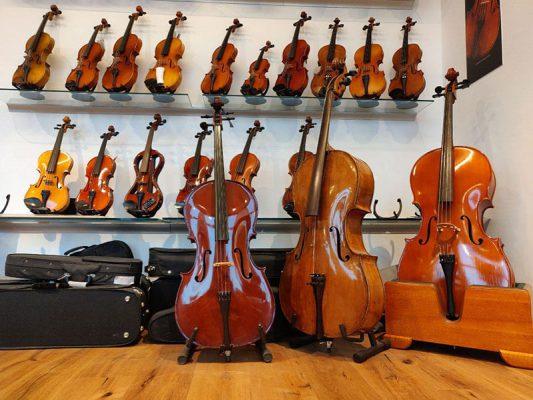 musikgeschäft Violinen
