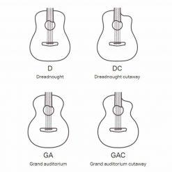 Dowina Rustica Westerngitarre Shapes